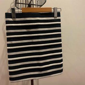 H&M Striped Pencil Skirt